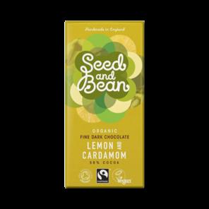 Seed and Bean 58% hořká čokoláda citrón a kardamom BIO 85 g