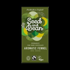 Seed and Bean 58% hořká čokoláda fenykl Bio 85g