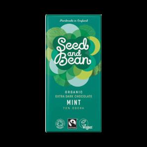 Seed and Bean 72% hořká čokoláda máta BIO 85 g