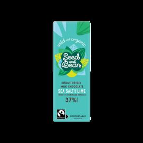 Seed and Bean BABY 37% mléčná čokoláda mořská sůl Cornish a limetka BIO 25 g