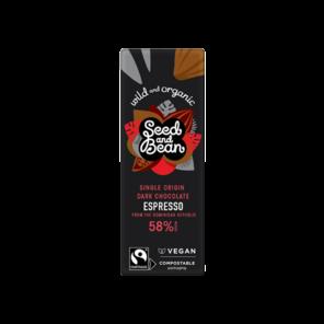 Seed and Bean BABY 58% hořká čokoláda káva Espresso BIO 25 g