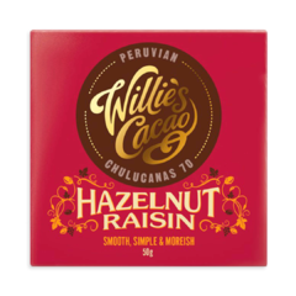 Willie's Cacao EXP Hazelnut Raisin - Chulucanas 70% hořká čokoláda 50g