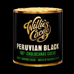 Willie's Cacao Peruvian Black, 100% Chulucanas čokoládový váleček 180 g