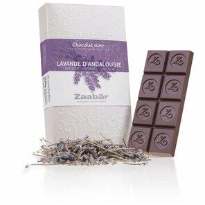 Zaabär DUO hořká čokoláda - levandule z Andalusie 70g