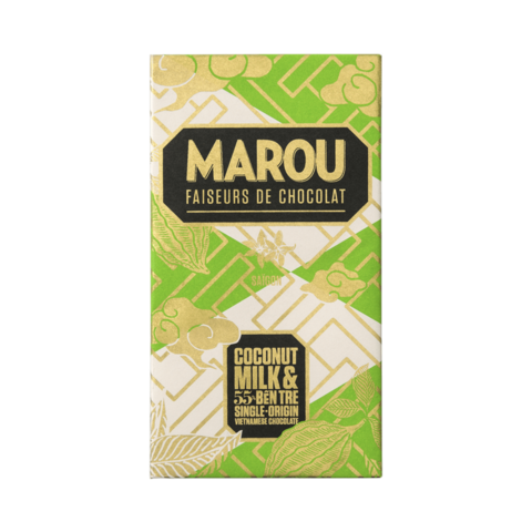 Marou 55% hořká čokoláda s kokosovým mlékem 80 g