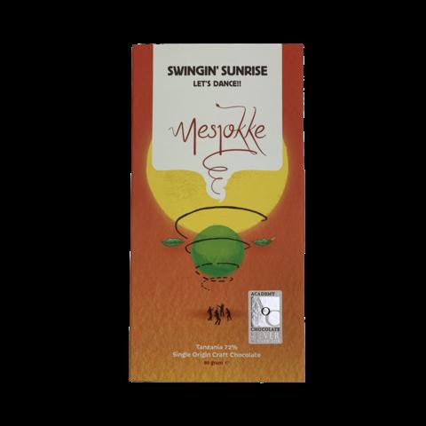 Mesjokke 72% hořká čokoláda Swingin' Sunrise Tanzanie 80 g