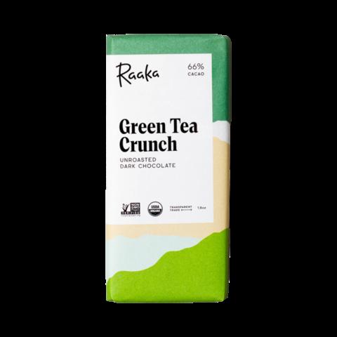 Raaka 66% hořká čokoláda Green Tea Crunch 50 g