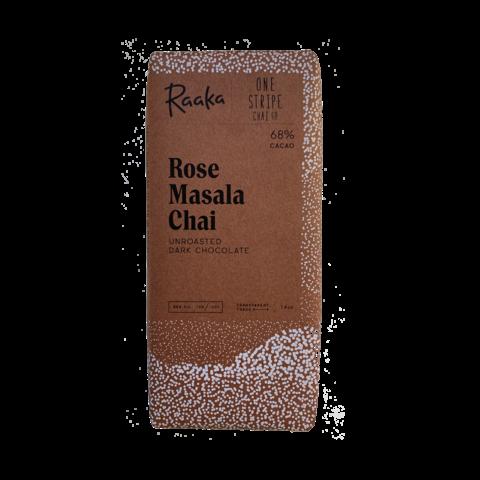 Raaka 68% hořká čokoláda Rose Masala Chai Limited Edition 50 g
