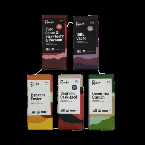 Raaka BROOKLYN degustační sada čokolád 250 g